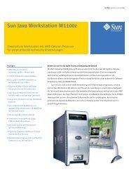 Sun Java Workstation W1100z - GSD
