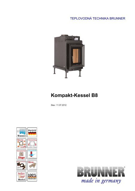 Kompakt-Kessel B8 made in germany - Brunner