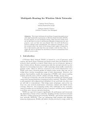 Multipath Routing for Wireless Mesh Networks - Distributed Systems ...