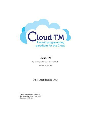 Cloud-TM D2.1 - Distributed Systems Group / INESC-ID Lisboa ...