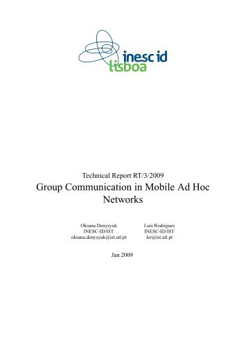 Group Communication in Mobile Ad Hoc Networks - Distributed ...