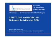 CEN/TC 287 and ISO/TC 211 Outreach - Global Spatial Data ...