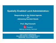 Spatially Enabled Land Administration: - Global Spatial Data ...