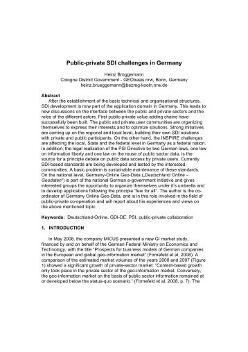 Public-private SDI challenges in Germany - Global Spatial Data ...