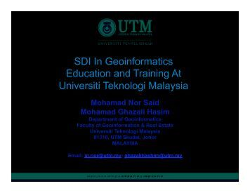 Universiti Teknologi Malaysia (UTM) - Global Spatial Data ...