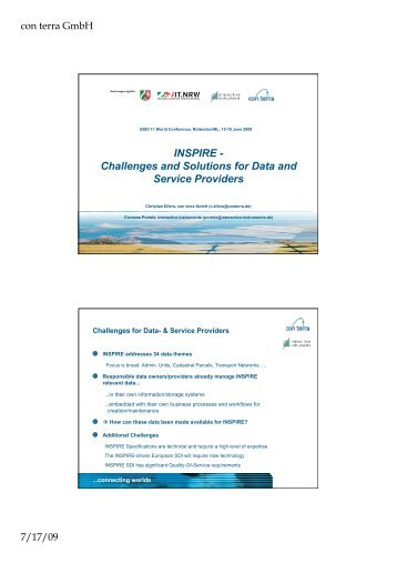 INSPIRE - Challenges and Solutions for Data and Service Providers