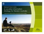 A Location Information Strategy for Western Australia