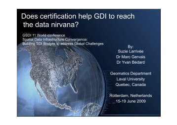 Does certification help GDI to reach the data nirvana?