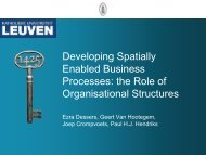 Analysing organisational structures and SDI performance