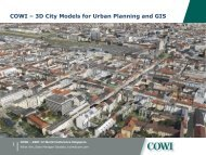 COWI ? 3D City Models for Urban Planning and GIS