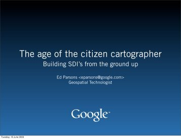 The age of the citizen cartographer