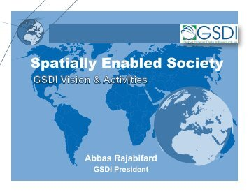 slides - Global Spatial Data Infrastructure Association