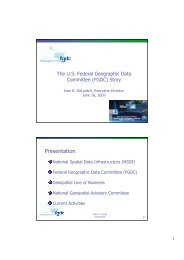 The U.S. Federal Geographic Data Committee (FGDC) Story