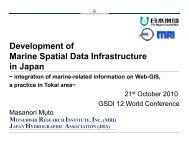 Development of Marine Spatial Data Infrastructure in Japan
