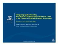 Integrating Spatial Planning and Disaster Risk Reduction at the ...