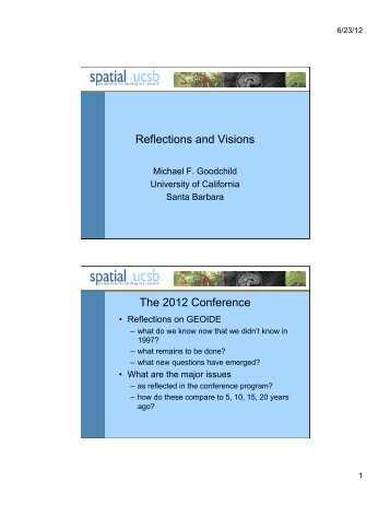 Reflections and Visions The 2012 Conference - Global Spatial Data ...
