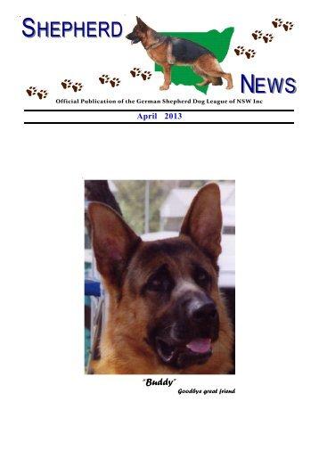 Shepherd News April, 2013 - German Shepherd Dog League NSW ...