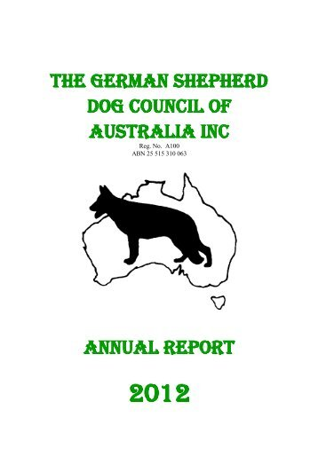GSDCA Annual Report 2012 - German Shepherd Dog Council of ...