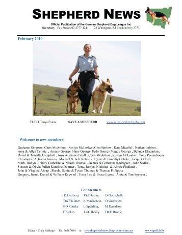 SHEPHERD NEWS - German Shepherd Dog League NSW Inc.