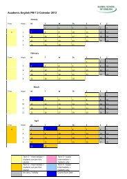 Academic English PM 7.5 Calendar 2013
