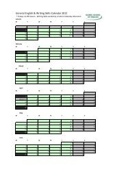 General English & Writing Skills Calendar 2012.xlsx