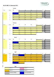 IELTS PM 7.5 Calendar 2013