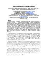 Towards an international address standard (English) - ISO/TC 211