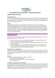 General Student Visas - Global School of English