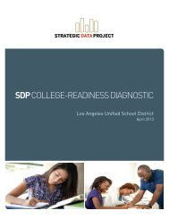 sdp college-readiness diagnostic - Harvard Graduate School of ...