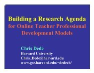 Building a Research Agenda - Harvard University
