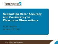 Supporting Rater Accuracy and Consistency in Classroom ...