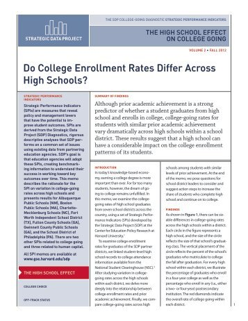 Do College Enrollment Rates Differ Across High Schools? - Harvard ...
