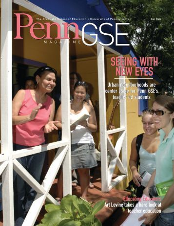 C1 Cover_S06.qxd - Penn GSE - University of Pennsylvania
