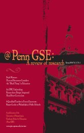 A reviewofresearch - Penn GSE - University of Pennsylvania