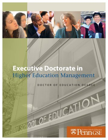 The Executive Doctorate in - Penn GSE - University of Pennsylvania