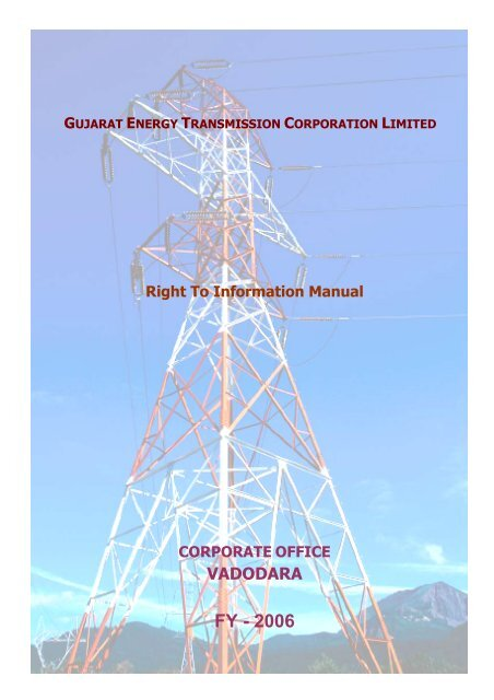 Manual - Gujarat Electricity Board