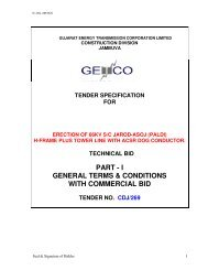 PART - I GENERAL TERMS & CONDITIONS WITH COMMERCIAL BID