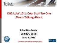 DB2 LUW 10.1 Cool Stuff No One Else is Talking About - GSE Belux