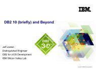 DB2 10 (briefly ) and Beyond - GSE Belux