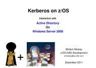 Kerberos on z/OS - GSE Belux