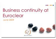 090617 - Business continuity at Euroclear - GSE Belux