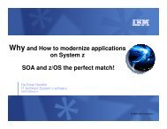 Why and How to modernize applications on System z ... - GSE Belux