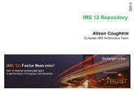 IMS 12 - Repository - GSE Belux