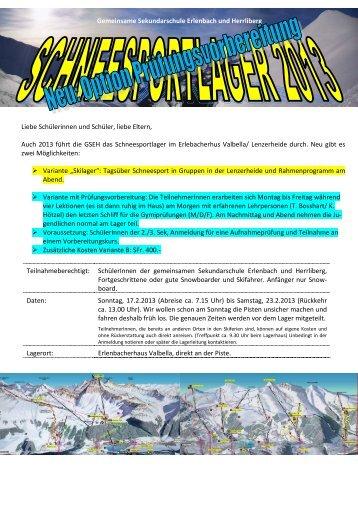 Anmeldeformular Skilager 2012/2013 - gseh.ch - Gemeinsame ...