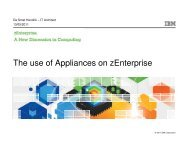 The use of Appliances on zEnterprise - GSE Belux