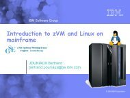 Introduction to zVM and Linux on mainframe - GSE Belux