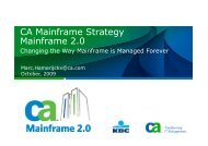 CA Mainframe Software Manager - GSE Belux