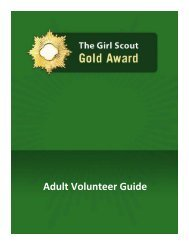 Gold Award - Adult Volunteer Guide - Girl Scouts of the USA