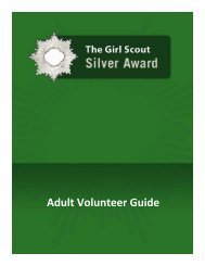 The Girl Scout Silver Award - Adult Volunteer Guide - Girl Scouts of ...