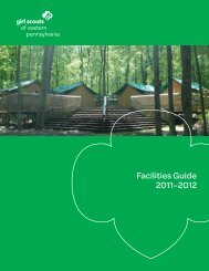 Facilities Guide 2011–2012 - Girl Scouts of Eastern Pennsylvania